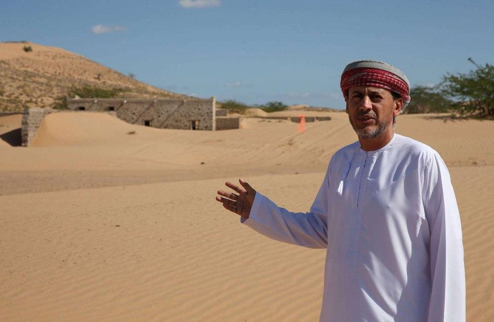 کشف روستای سنگی پس از توفان ماسهای در عمان + تصاویر