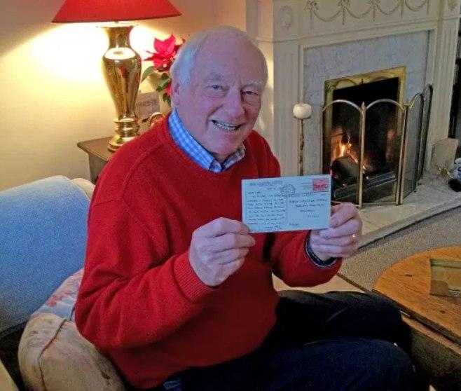 کارت پستال سرگردان پس از 66 سال به دست صاحبش رسید