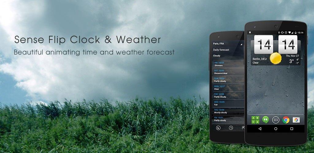 دانلود Sense Flip Clock & Weather