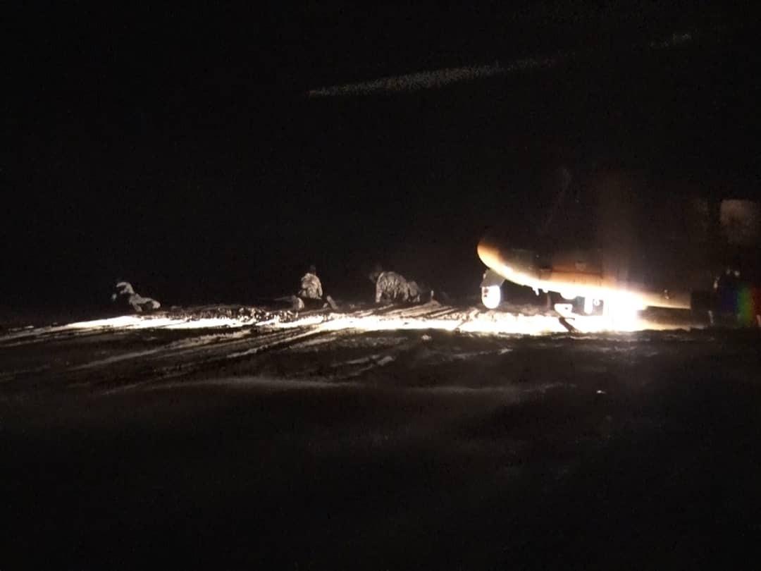 اجرای عملیات هلی برن و انهدام اهداف در شب توسط بالگردهای هوانیروز