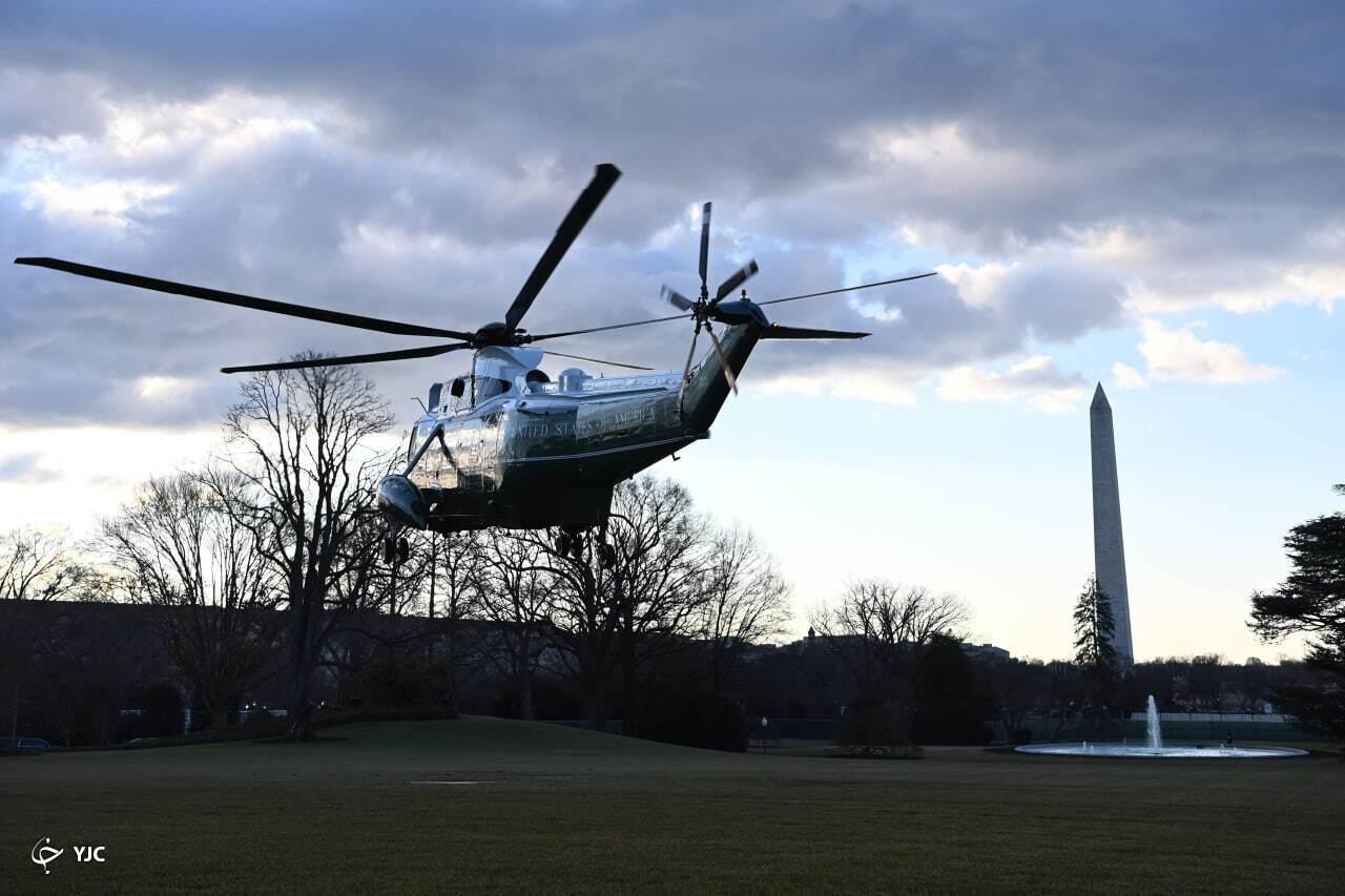 ترامپ کاخ سفید را ترک کرد