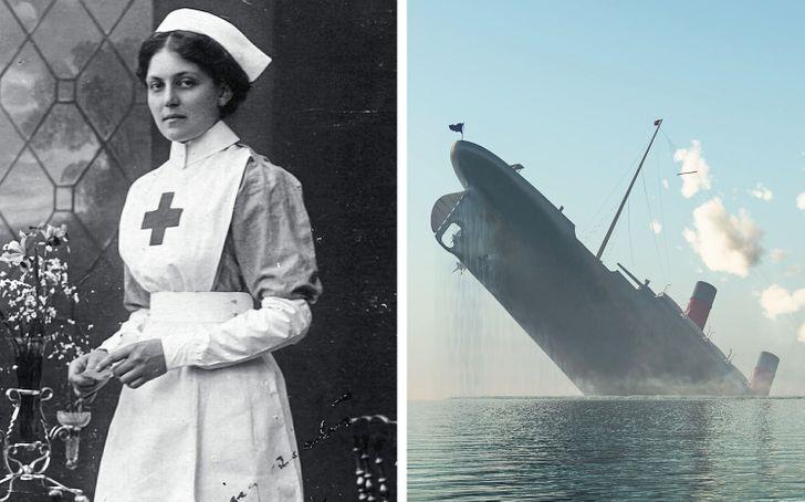 داستان پرستاری که از سانحه کشتی تایتانیک و دو کشتی دیگر جان سالم به در برد
