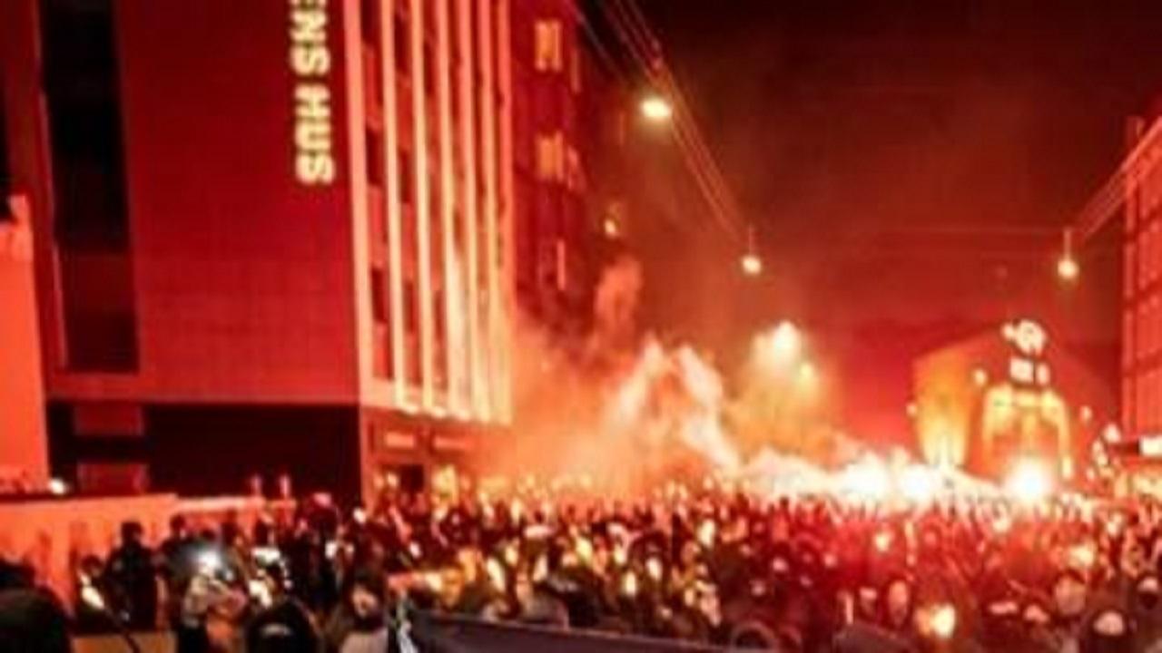 اعتراضات علیه محدودیتهای کرونایی در دانمارک + فیلم