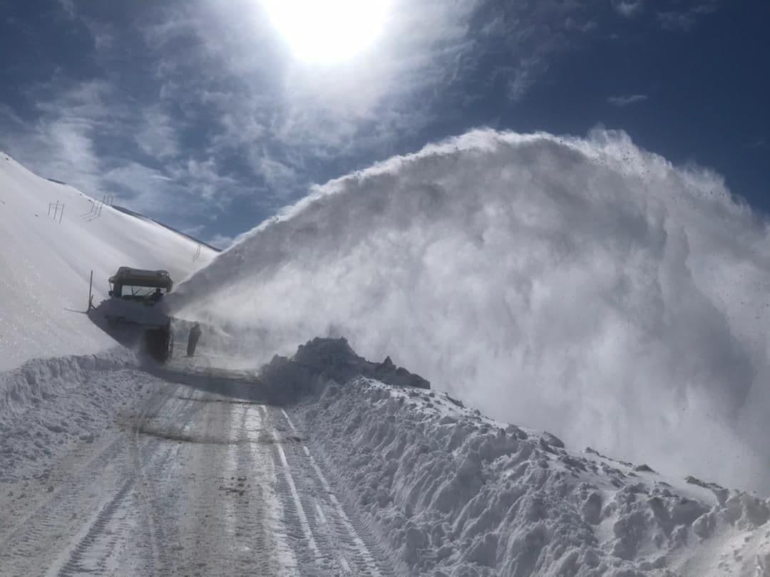 برف و کولاک سنگین در محور هراز