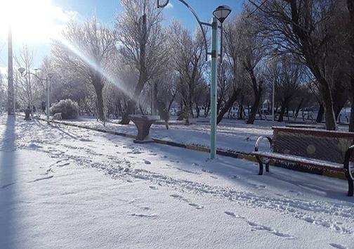 بارش برف در شهرستان دلفان