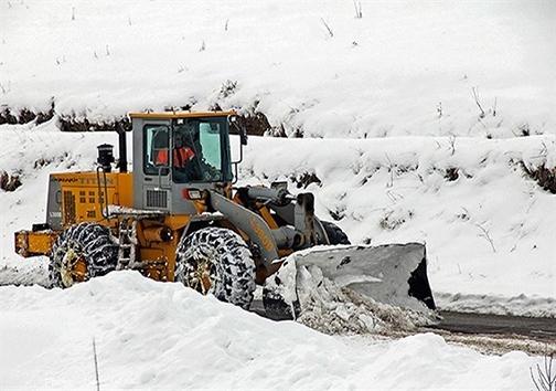 بارش برف در استان اردبیل
