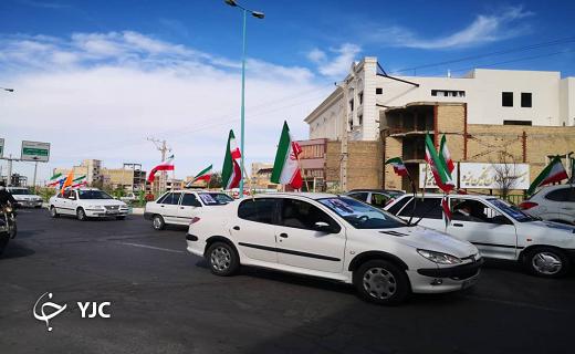آغاز حرکت نمادین سالروز پیروزی انقلاب در یزد