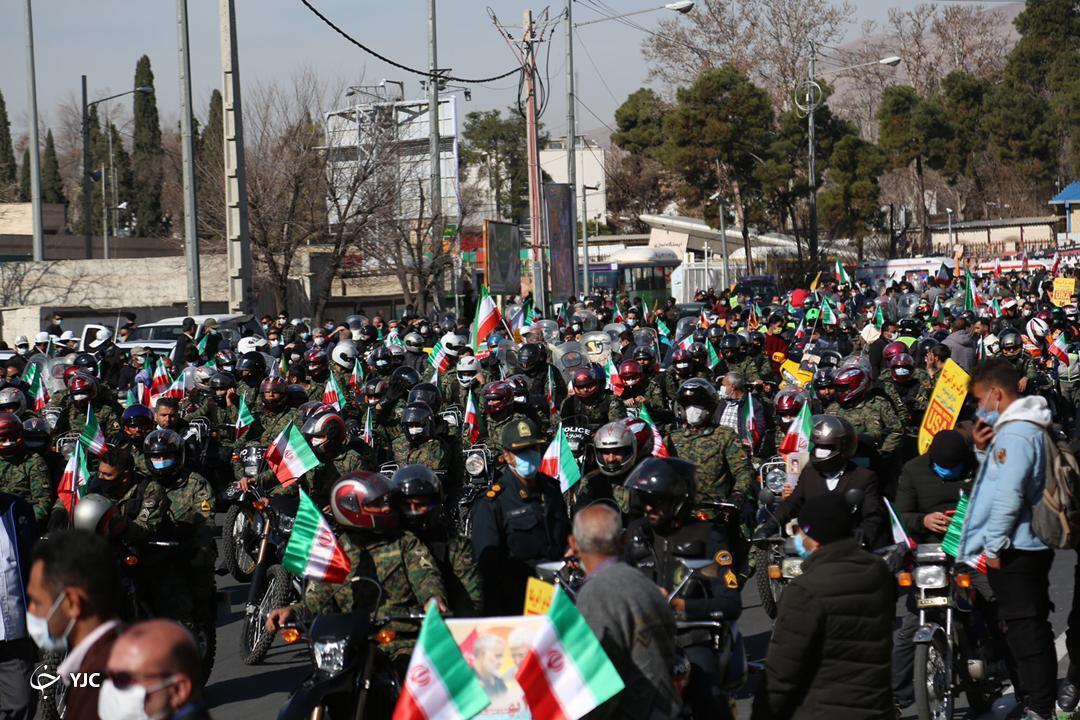 راهپیمایی مردم فارس در سالروز ۲۲ بهمن ماه