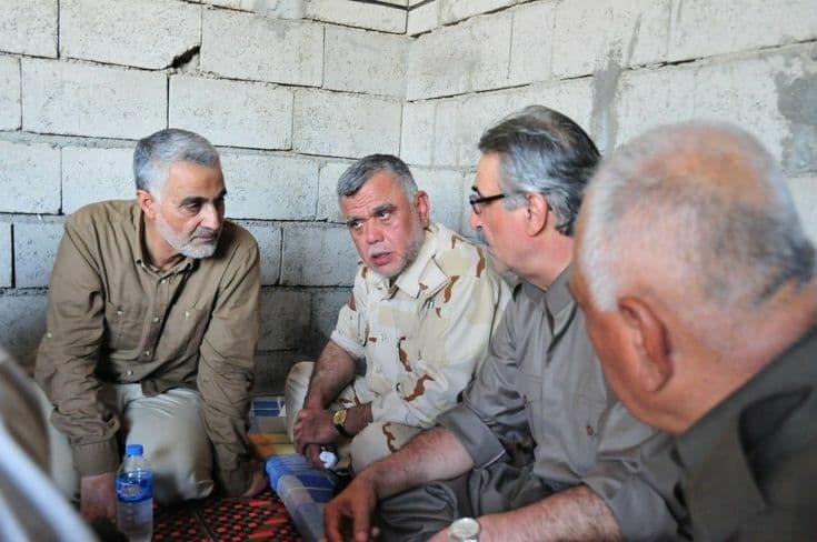 حضور فرمانده سپاه قدس در کنار معاون حشدالشعبی + عکس
