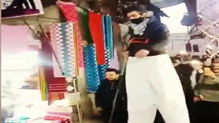 حضور شهروند چندمتری در بازار سقز! + فیلم