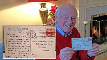 کارت پستال سرگردان پس از ۶۶ سال به دست صاحبش رسید