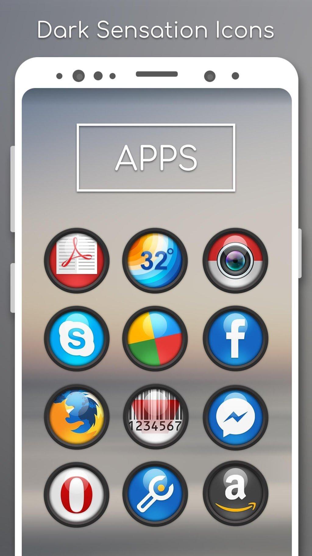 دانلود Darko5 – Icon Pack 1.2 – آیکونپک دارکو فایو اندروید