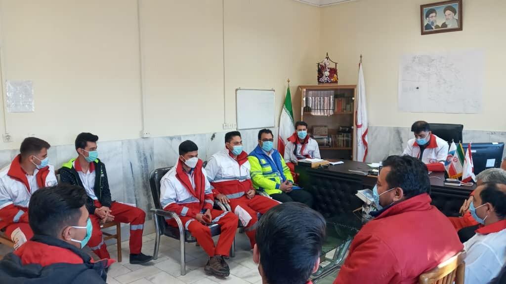 برگزاری مانور لحظه صفر در جمعیت هلال احمرِ کرمان