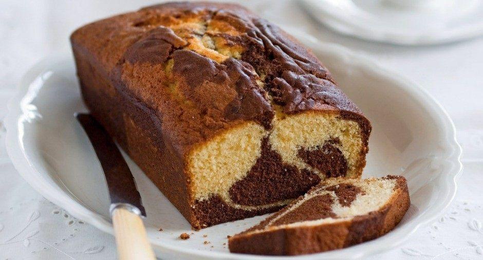 طرز تهیه کیک صبحانه یا کیک انگلیسی دو رنگ
