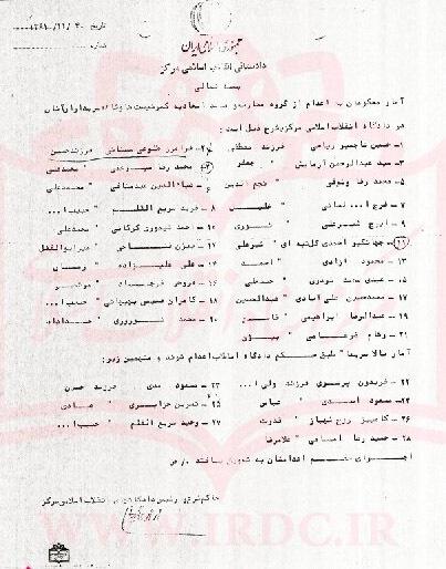 حکم اعدام مسببان غائله ۶ بهمن آمل + تصاویر