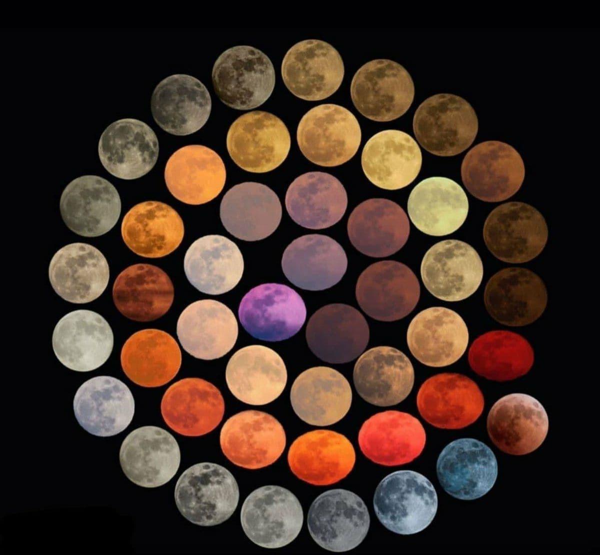 عکاسی از ۴۸ رنگ مختلف ماه طی ۱۰ سال