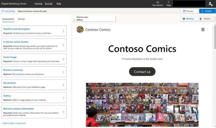 ساخت وب سایت از روی صفحات شبکه های اجتماعی  / ابزار جدید مایکروسافت