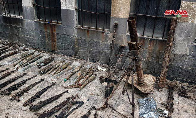 کشف دهها قبضه سلاح و مهمات در سوریه