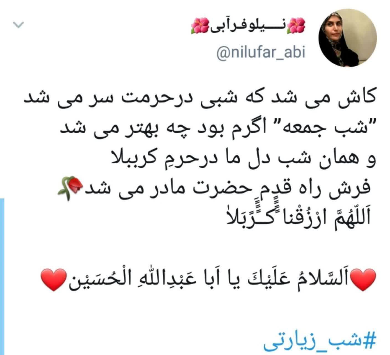 توئیت کاربران در شب زیارتی امام حسین