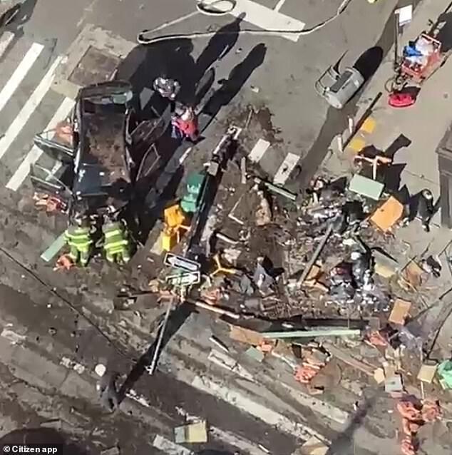 ۶ مجروح در تصادف یک خودرو در نیویورک  02