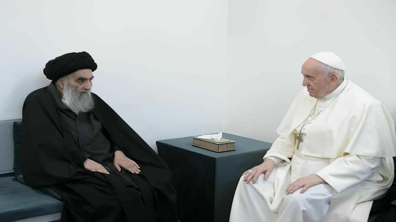 بیانیه دفتر آیتالله العظمی سیستانی درباره دیدار پاپ