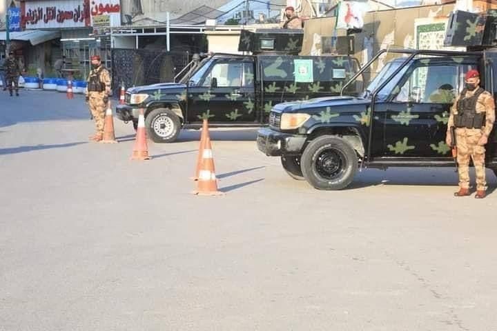 الحشد الشعبی بخشی از تامین امنیت پاپ در نجف را به عهده گرفت+ تصاویر