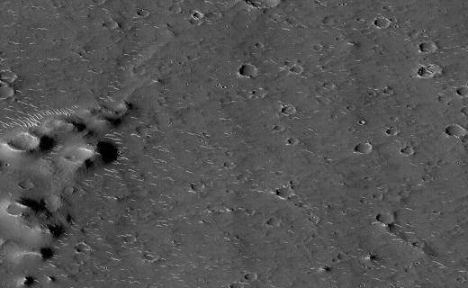 عکس از دهانه مریخ