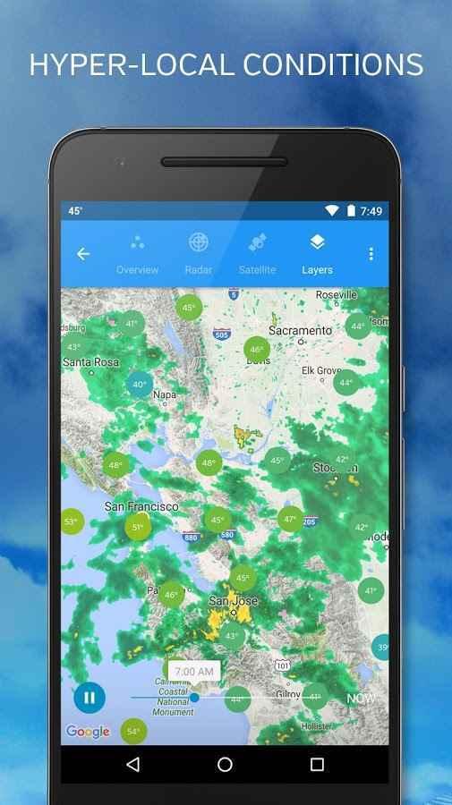 دانلود اپلیکیشن هواشناسی اندروید Forecasts