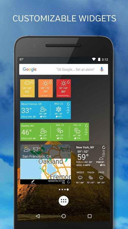 دانلود اپلیکیشن دقیق هواشناسی اندروید