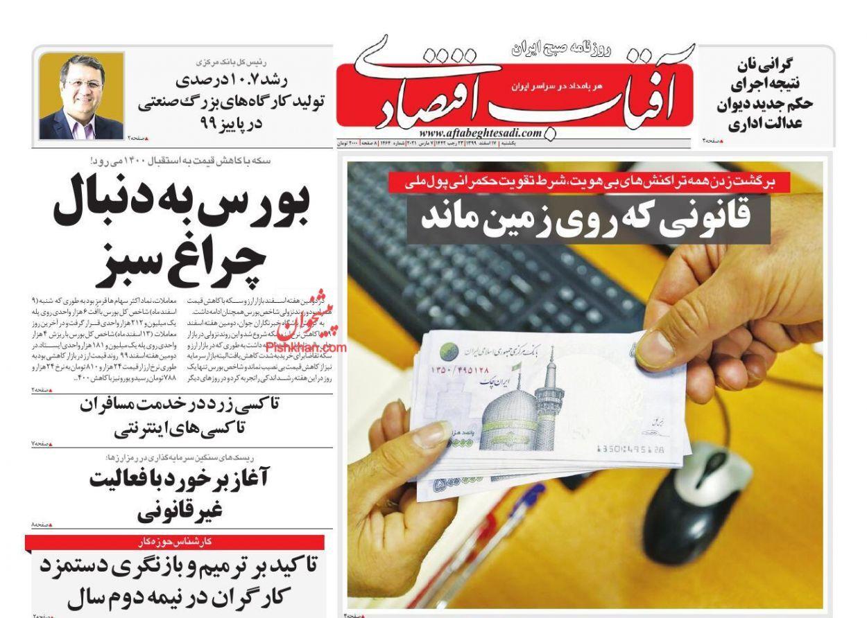 بورس به دنبال چراغ سبز/ تعدیل قیمتها در بازار شب عید/ بحران خانهدار شدن در ایران