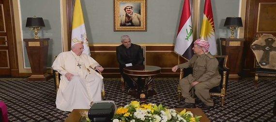 پاپ فرانسیس وارد اربیل شد