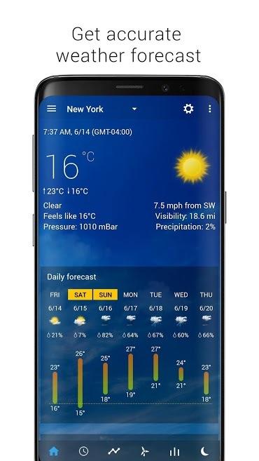 دانلود برنامه ساعت و آب و هوای اندروید Transparent weather Pro