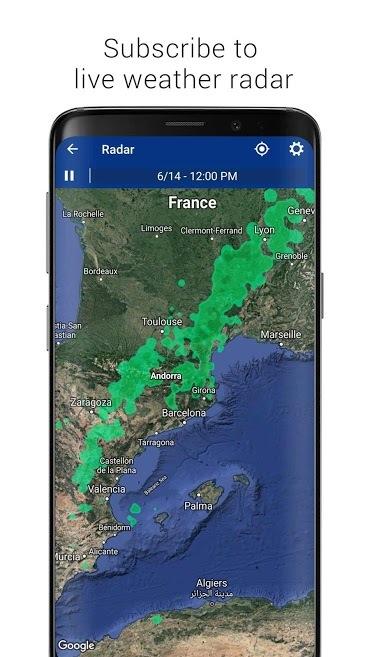 دانلود برنامه آب و هوای اندروید Transparent clock & weather Pro