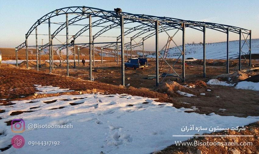 ساخت سوله سبک خرپایی در عرض ۳۰ روز توسط شرکت بیستون سازه