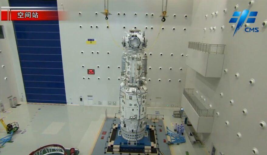 اولین ماژول ایستگاه فضایی چین