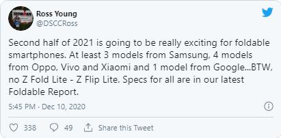 تلفن تاشو Oppo از اوایل آوریل 2021 منتشر خواهد شد