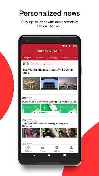 دانلود برنامه اپرا Opera News 8.4.2254.56482