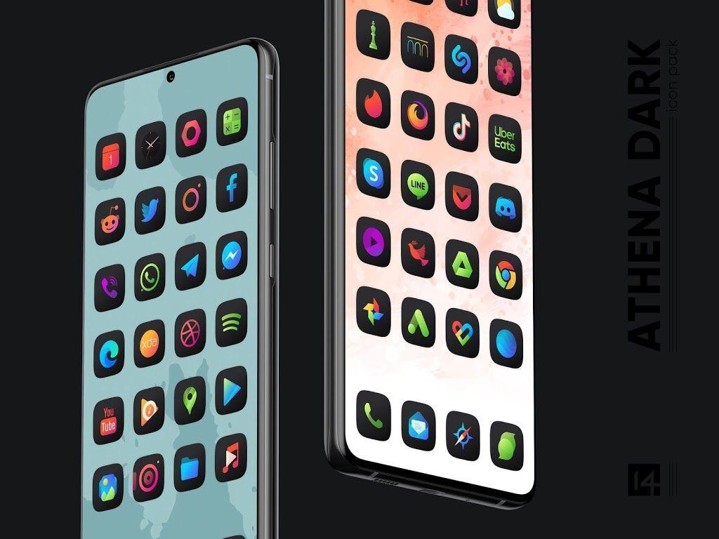 دانلود آیکون پک 3.2 Athena Dark Icon Pack اندروید