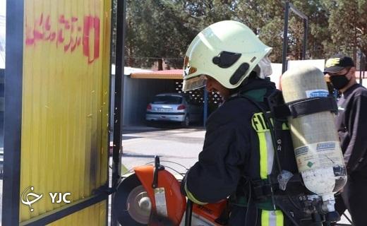 آزمون آمادگی جسمانی آتشنشانان یزدی