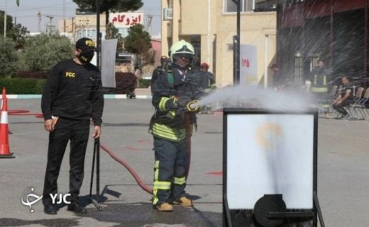 آزمون آمادگی جسمانی آتش نشانان یزدی