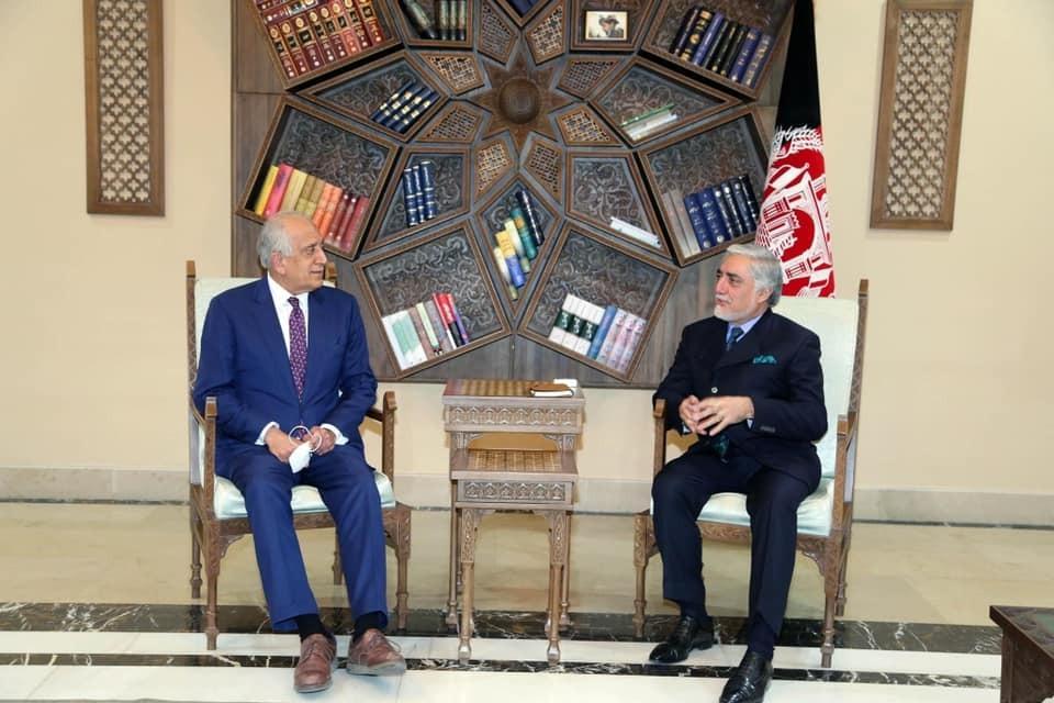 دیدار جداگانه خلیلزاد با اشرف غنی و عبدالله در کابل