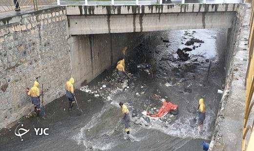 پاکسازی رودخانه قلعه خندان + تصاویر