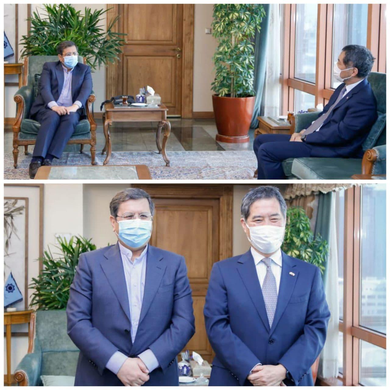 دیدار سفیر ژاپن با همتی