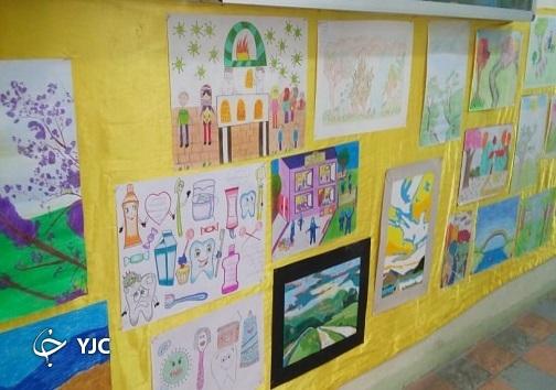 پرده برداری از هنر دانش آموزان اهوازی در اداره آموزش و پرورش اهواز
