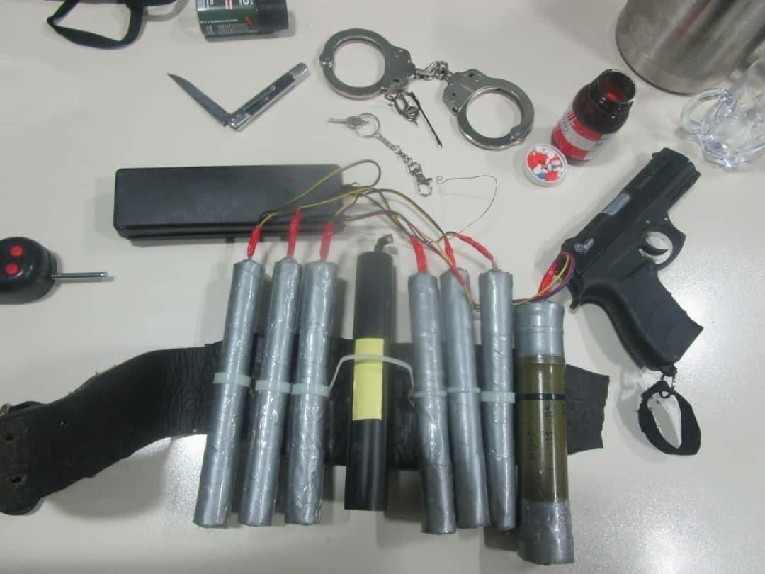 خرابکاری که قصد بمب گذاری در پایتخت را داشت دستگیر شد