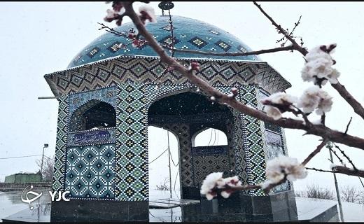 بارش برف و خوشحالی مردم کویر یزد+ تصاویر
