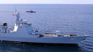 انفجار کشتی انگلیسی در دریای عمان