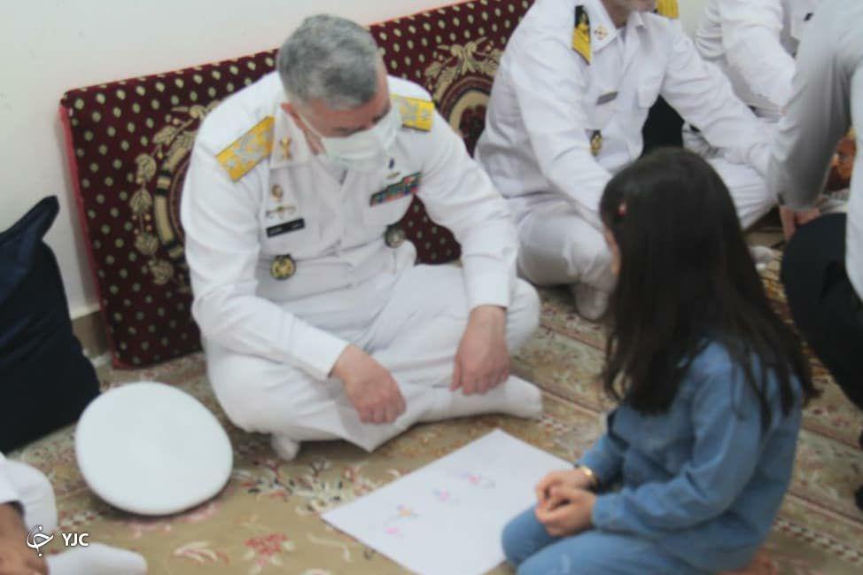 دیدار امیر دریادار خانزادی با خانواده کارکنان نیروی دریایی ارتش در پسابندر