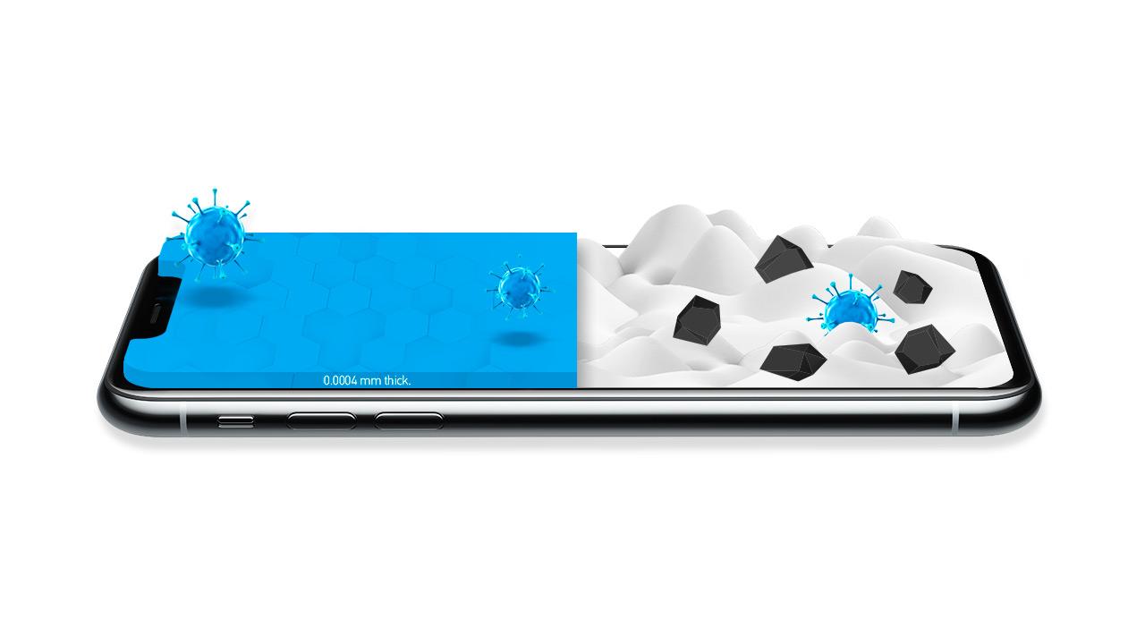 نانوپوشش محافظ برای حفاظت تلفن همراه از گزند ویروس و باکتری