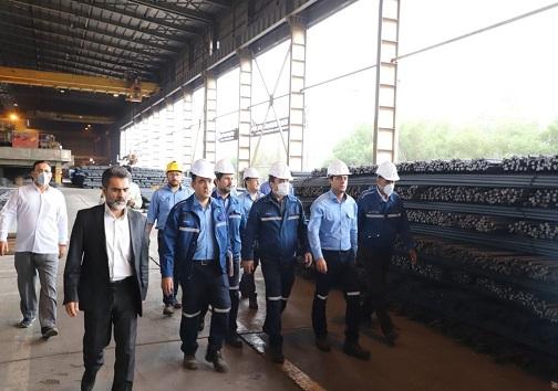 حضور مدیرعامل و نائب رئیس هیئت مدیره شرکت گروه ملی در کارخانجات فولاد سازی